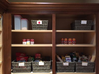 A clean and organized pantry